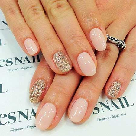 Nail, Pretty Nail Art, Glitter, Wedding Simple - 7 Best Simple Gel Nail Designs – Nail Art Designs 2017