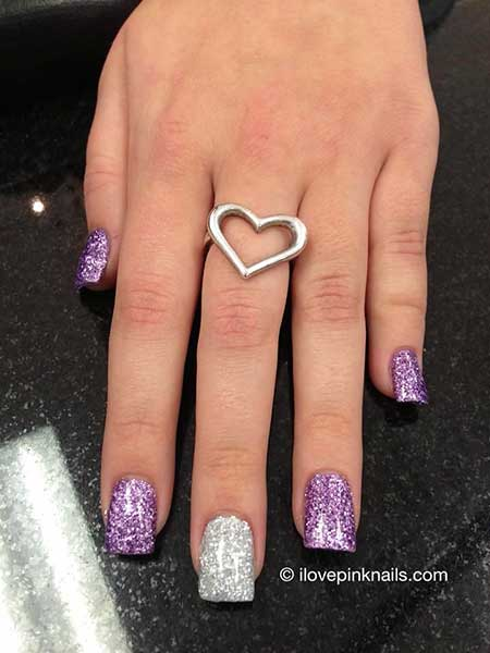 7 new purple and silver nail designs nail art designs 2017 purple and silver nails prinsesfo Gallery