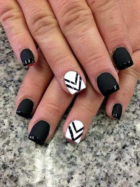 21 popular white and black nail designs nail art designs 2017 black nails with designs white nail music notes prinsesfo Image collections