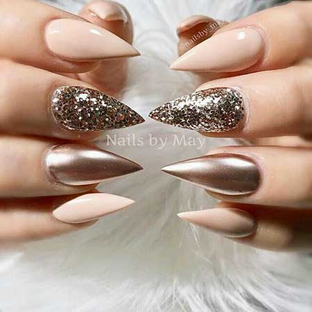 33 Best Nail Designs For Stiletto Nails Art 2017 - Stiletto Fall Nails Best Nail Designs 2018