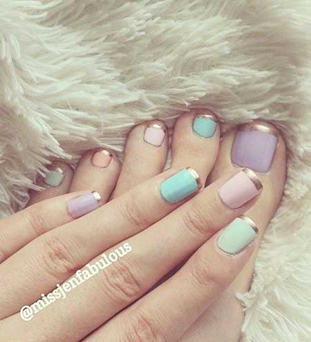 8 new easter nail art designs nail art designs 2017 easter french tip nail design prinsesfo Images