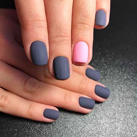 20 simple nail art designs 2017 nail art designs 2017 manicures art matte nail simple nail matte simple idea prinsesfo Image collections