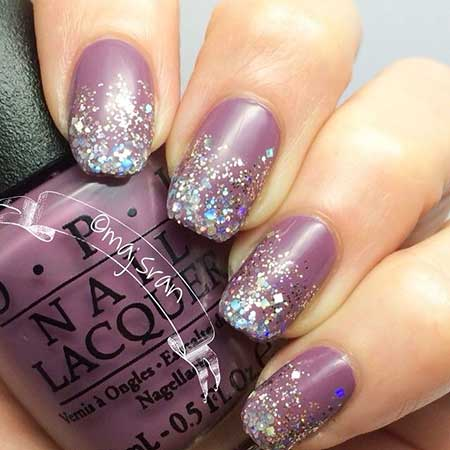 Polish Glitter, Nail Polish, Glitter Nail, Swatch, Purple, Silver, - 7 New Purple And Silver Nail Designs – Nail Art Designs 2017
