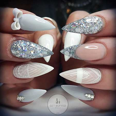 33 Best Nail Designs For Stiletto Nails Nail Art Designs 2018