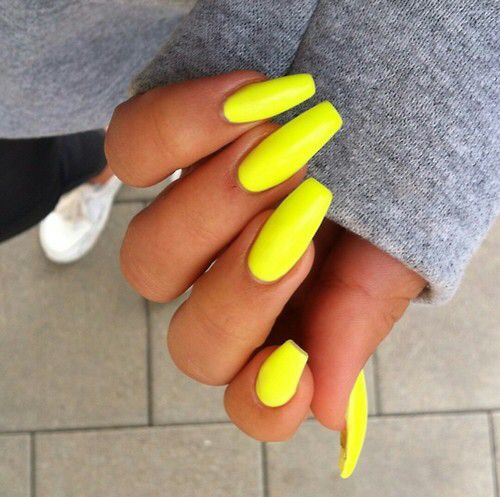 Yellowyellow, Neon Nail, Neon, Summer Neon Yellow, 2017, Spring, Summer