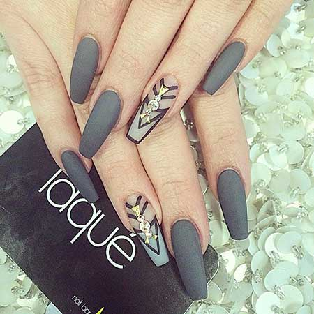 Nail, Stiletto Coffin Matte Nail, Laque, Matte, Coffin, Stiletto,