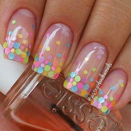 Nail, Polka Dots, Dot Nail, Flower Nail, Summerart, Dot, Polka, Floral