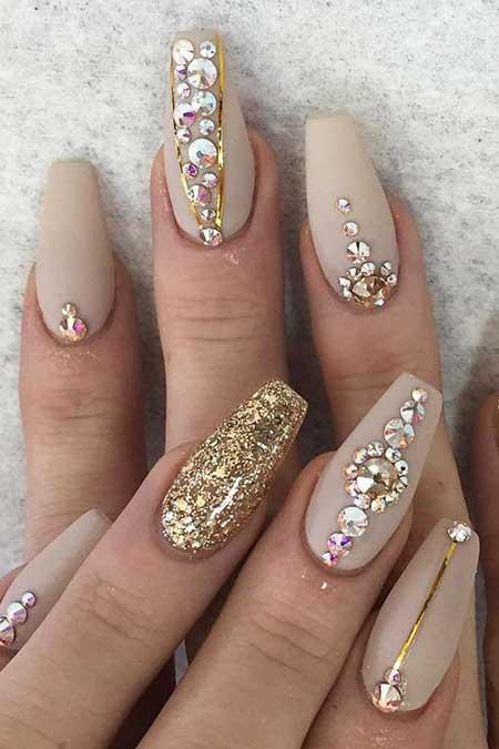 Nail, Beauty Glitter Nail, Coffin Pretty Nail
