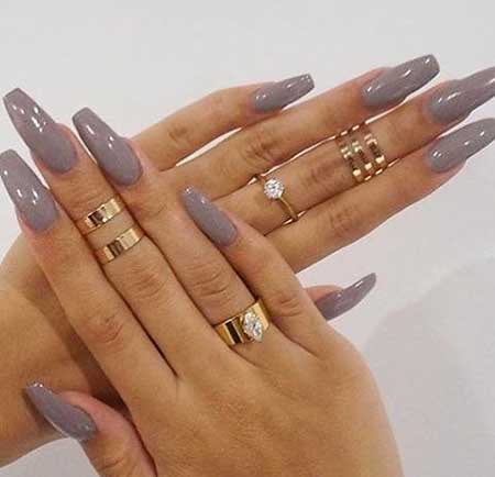 Rings, Midi Rings, Nude Accessories, Jewelry, Midi, Long, Nude, Coffin