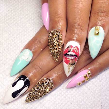 Nail, Stiletto Art, Acrylic Pretty Nail, Stiletto, Pretty