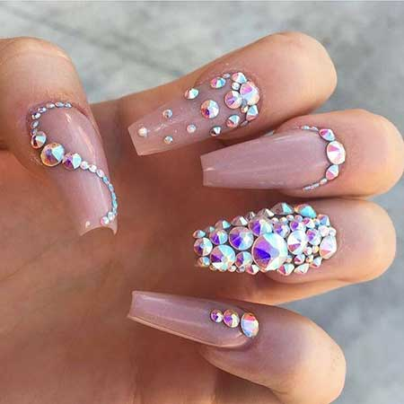 Bling Coffin Nails