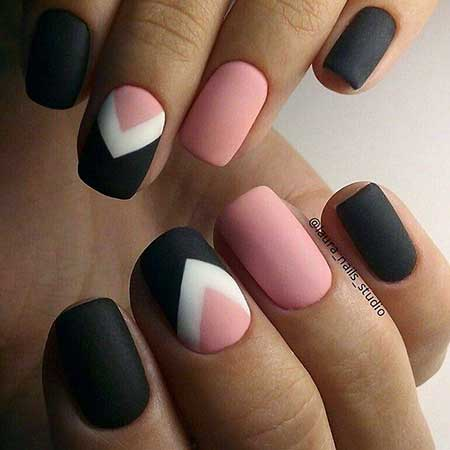 Geometric Nail, Art, Simple Easy Nail, Geometric, Simple, Easy, Idea, S