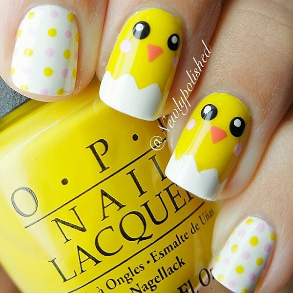 Pooh Nail, Pikachu Nail, Minion Pokemon Nail, Easter Art, Smiley Face, Yellow