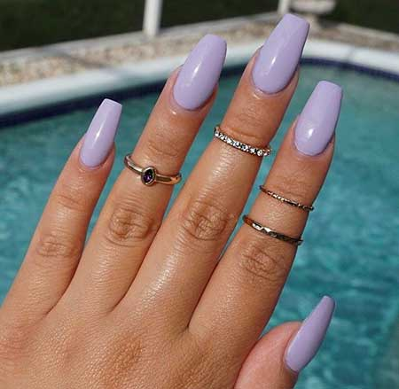 Matte Nail, Nail Ring, Nail Color, Coffin Acrylic Light