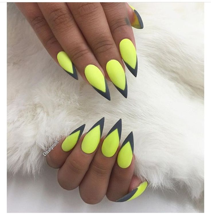 Summer Neon Nail, Neon, Rainbow Yellow, Art, Stiletto Rainbow, Cat