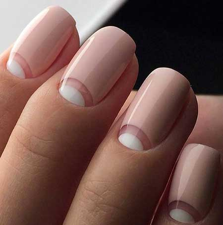 French Manicure, Manicures, Nail Polish, Heart Nail, Simple Heart, Simple,