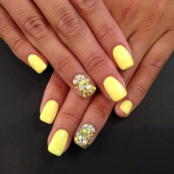 Yellow Yellow, Art, Summer Nail,