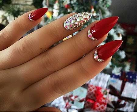 Nail, Art, Rings, Glitter, Pretty Nail, Pinkred