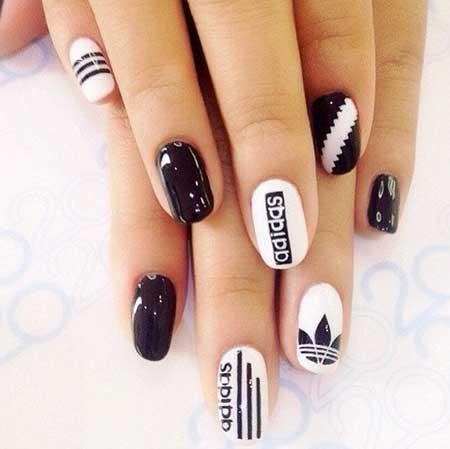 Nail, Art, Black Nail, White Nail, Manicures, White