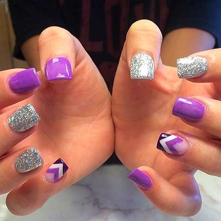 7 New Purple And Silver Nail Designs Nail Art Designs 2018