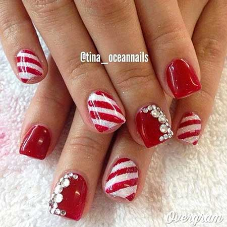 Christmasart, Holiday Christmas, Red, Valentine Nail, Holiday, Valentine, S