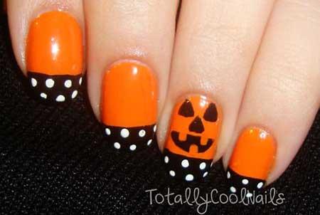 Halloween, Art, Halloween Orange, Nail, day, Simple