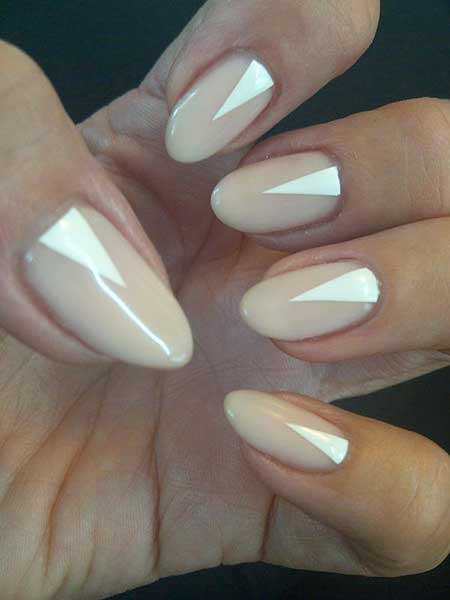 Stilettowhite Nail, Nude Stilettos, Beautiful, Nude, White, Triangle, Stiletto,