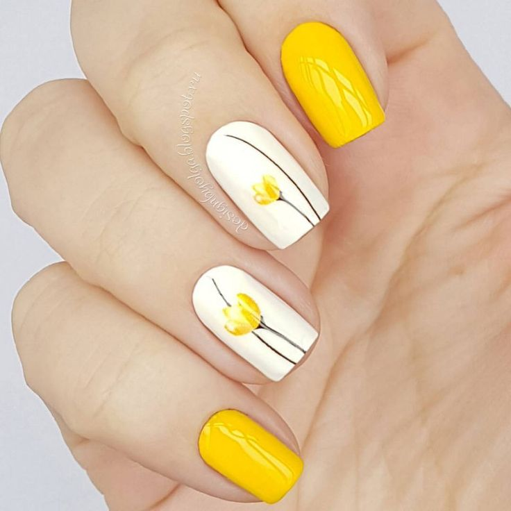 Art, Summer Yellow Tweety Nail, Yellow, Summer