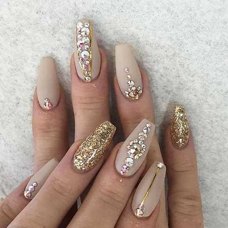Nail, Beauty Coffinpretty Nail, Glitter Nail, Art, Coffin, Rhinestone, Ideas, Pretty [,
