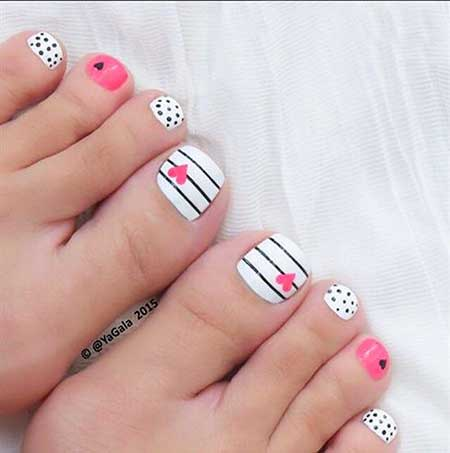 Nautical Nail, Art, Summer Polka Dots, Stripes, Polka, Nautical
