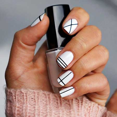 White Nail Art, Spacemarble Nail, Patterns, White