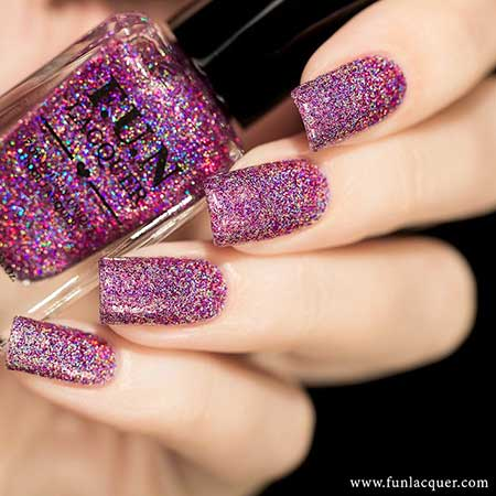 Polish, Nail Polish, Swatch, Fun Lacquer, Glitter, Purple, Lacquer, Zoya, Queen, Fun