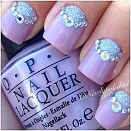 Nail, Wedding Pretty Nailw Nail, Pink Pearl Nail, Art, Silver, Purple, Pink