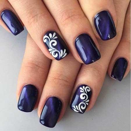 Art, Blue Manicures, Dark
