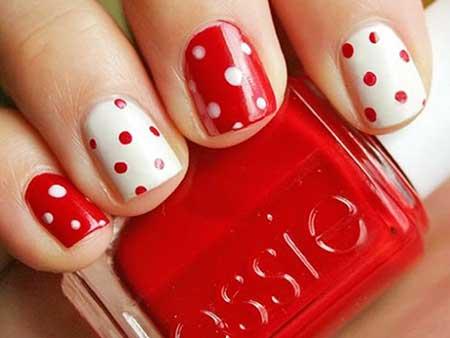 Polka Dots, Dot Nail Dots, Polkadot, Polka, Polka Dot Red White, Red, White, Dot