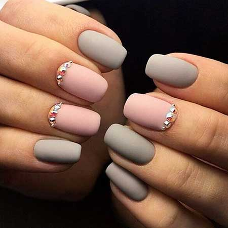 Art, Manicures, Simple Nail Polish, Polish, Grey - 7 Best Simple Gel Nail Designs Nail Art Designs 2018