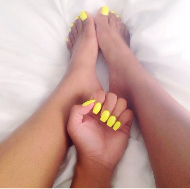 Yellow Yellow, Summer Art, Toe Nail, Neon, Manicures, Coffin, Toe