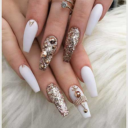 Nail, Stiletto Pretty Nail, Coffin Beauty Wedding White, Coffin, Stiletto, Wedding,