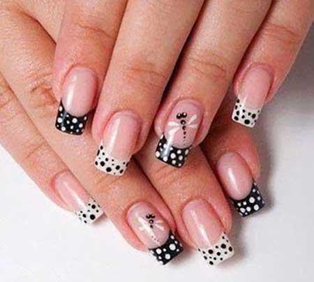 Polka Dots, Panda Nail, White Nail, Art, Dots, Very, White