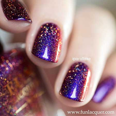 Polish, Nail Polish, Swatch, Glitter, Fun Lacquer, İlnp, Lacquer, Purple, Fun [,