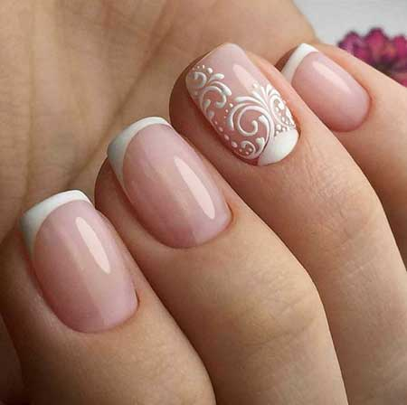 Art, Manicures Manicure, Wedding Simple Nail, Pink Pink, Simple, Wedding - 7 Best Simple Gel Nail Designs Nail Art Designs 2018