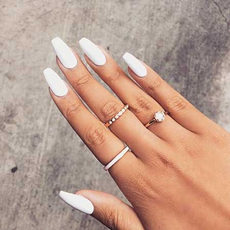 White Nail, Nail Ring, Black Nail, Stiletto Rings, Beauty Makeup Hair White, Black
