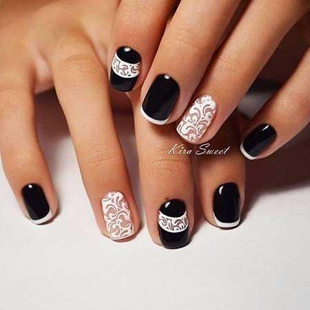 Art, S, White Nail, Manicures, White, Black