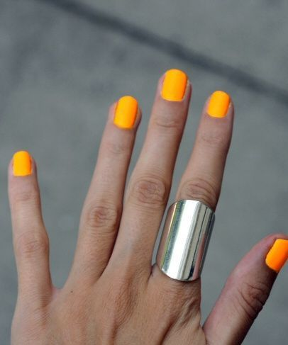 Rings, Summer Manicures, Neon Nail, Art, Yellow, Orange, Neon