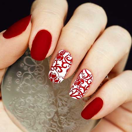 Christmasart, Valentine Nail, Christmas, Winter Red, Valentine'S