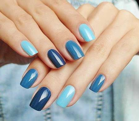 Blue, Art, S, Manicures