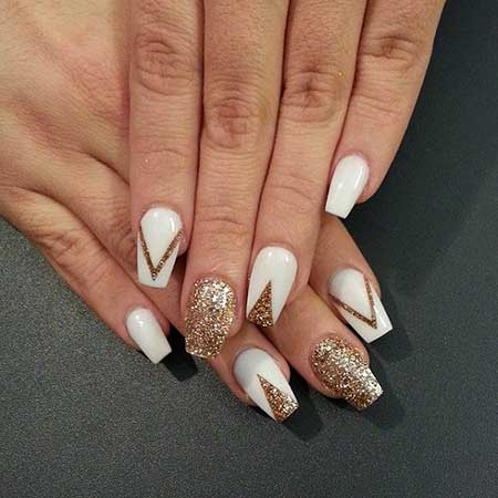 Nail, Thenailboss, Gold Nailter Nail, Gold, Silver, White, Idea