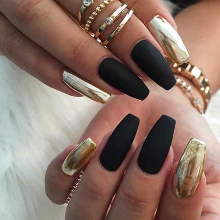 Ails, Coffin Nailte Nail, Black Nail, Nail Ring, Mirror