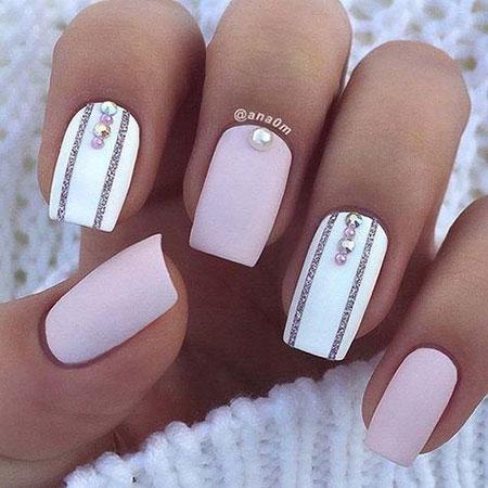 Elegant Nail Design, Elegant Short Design Accent