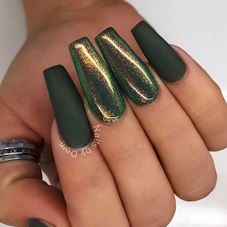 Green Nail Design, Green Dark Design Best